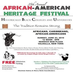 Event in Valhalla, NY by Westchester County African American Heritage Celebration on Sunday, June 23 2019 with people interested and 997 people. Jun, African, Events, Dessert, River, York, Facebook, Deserts, Postres