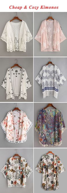 Cheap & cozy kimonos kimonos fashion, fashion outfits, diy c Kimono Fashion, Hijab Fashion, Diy Fashion, Fashion Dresses, Womens Fashion, Cheap Fashion, Fashion Sewing, Fashion Ideas, Fashion Inspiration