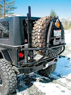 Wrangler Tire rack