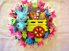 Crazy Kitsch Easter Bunny Wall Decoration