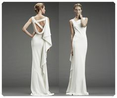 Stunning post-wedding gown wedding night dress....or perfect for elegant rehearsal dinner or brunch :)