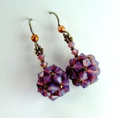 Mauve+Crystal+Earrings+Kit+by+ChrisPrussing+on+Etsy,+$19.00