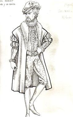 diseño vestuario serie tve: Miguel Servet 1988