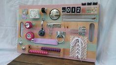 Busy Board, Activity Board, Older Toddler Busy Board, Fine Motor Board, Sensory Board, Educational Toy, Latch Board, Toddler Toy