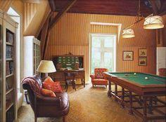 """Billiard Room by S.H. Lee 12"""" x 16"""" oil Meyer Gallery"""
