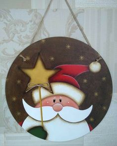 Christmas Wood Crafts, Christmas Art, Christmas Projects, Holiday Crafts, Christmas Holidays, Christmas Decorations, Painted Ornaments, Xmas Ornaments, Natal Country