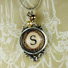 Typewriter+Style+Personalized+Initial+Necklace+by+glassrealm,+$19.95