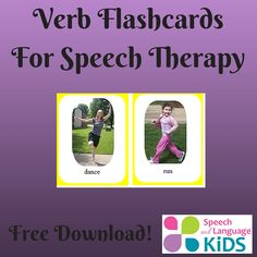 Verb Flashcards for Speech Therapy