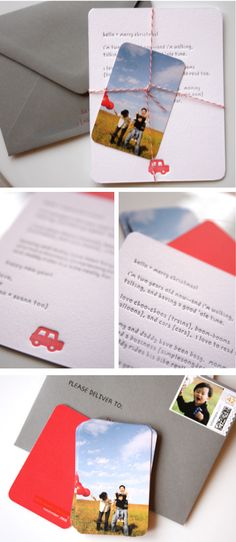 Christmas cards featuring Moo cards of family photos, by Simplesong #holiday