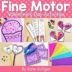This Valentine's Day Fine Motor Activities resource contains low prep activities that PreK, kindergarten, & homeschool students will love! These low-prep activities are perfect for prekindergarten centers or kinder stations and cover fine motor skills such as paper tearing, cutting, line tracing, tweezing, bead stringing, hole punching, & more. Preschoolers and kinders love these hands on activities that allow them to develop their fine motor skills while having fun celebrating Valentine's Day.
