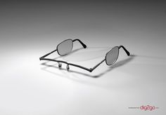 Less is More: Creative and Inspiring Minimalist Print Ads - Dig2go Glasses – This uniquely designed ad for Dig2go audiobooks suggests that Dig2go audiobooks allow listeners to read with their ears.  #advertising