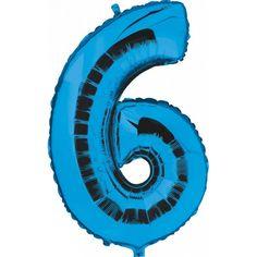 Een blauwkleurige folie ballon in de vorm van het cijfer 6 om zelf op te blazen. De ballon is opgeblazen ongeveer 100 cm groot. U kunt de ballon heel gemakkelijk met een ballonpomp opblazen. De ballon heeft diverse ophanghaakjes aan bovenzijde, onderzijde en zijkanten. U kunt de ballon ook zelf vullen met helium welke bij ons in tankjes verkrijgbaar zijn.