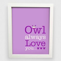Baby Girl's Owl Nursery Posters  Set of 4 by SunshinePrintsCo, $54.00