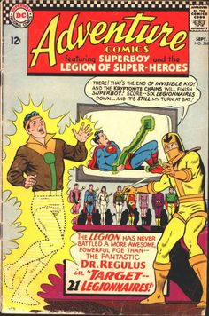 Adventure Comics Vol 1 348 Dc Comic Books, Comic Book Covers, Comic Art, Vintage Comics, Vintage Books, Superman Comic, Superman Stuff, Superman Family, Legion Of Superheroes