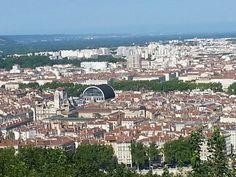 Lyon, vue de l'esplanade de Fourvière