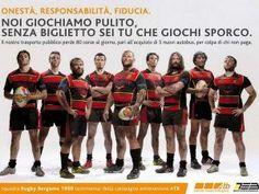 Non paghi il biglietto del bus? Attento, arrivano i rugbisti... #rugby_pazzi #fb