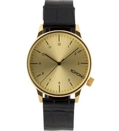 Black/Gold Croc Winston Monte Carlo Watch