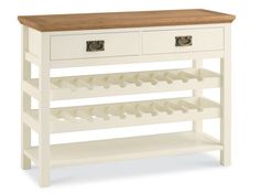 Paris Two Tone Console Table with Wine Rack at Dansk.