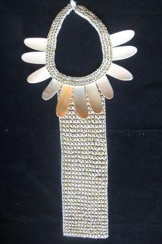 Asmat Tie Shell Necklace Tribal Wamena primitive art Tribal Papua New Guinea #tribal