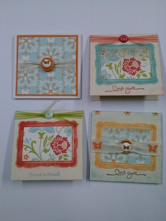 Stampin Up Everyday Enchantment DSP 3 x 3's