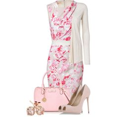 A fashion look from June 2014 featuring Giambattista Valli dresses, Vero Moda cardigans and Giuseppe Zanotti pumps. Browse and shop related looks.