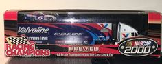 Nascar 2000 Mark Martin 1:64 Scale Transporter and Die Cast Stock Car Preview  #RacingChampions