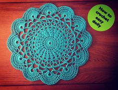 "Hi guys welcome in my tutorial. Today next patter for a doily :) This doily have 12"" diameter :) Dont forget subscribe."