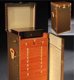 """A stunning Louis Vuitton humidor trunk capable of holding 1,000 cigars, the bespoke """"Malle Cigares"""" is based on a 1926 design known as the Stowkowski trunk. It took 9 months to create."""