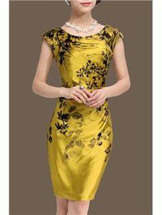 2014 Fashion Elegant Round Collar Silk Sheath Dresses Sheath Dresses- ericdress.com 10937334