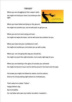 My#poem#happy fathers#day...donate for #rural #education cause#make your dad proud#NGO#www.thinksharpfoundation.org