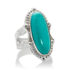 "Jay King ""Blue Ice"" Campitos Turquoise Silver Ring"