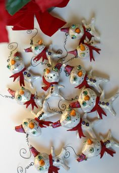 awesome handmade sculpted ornaments