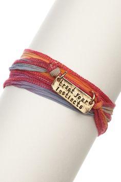 Alisa Michelle Trust Your Instincts Silk Wrap Bracelet