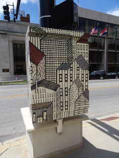 Traffic Box Art, Columbia MO. 8th and Broadway, artist: Ben Chlapek  #DiscoverTheDistrict #itsgoodtobehere