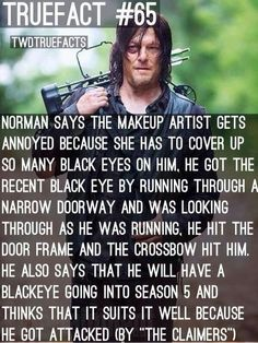 Norman Reedus About His Black Eyes