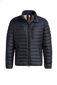 Custom Parajumpers Kochi Jacket Mens Dark Blue Black