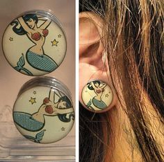 Mermaid Plugs, Gauges, stretched ears