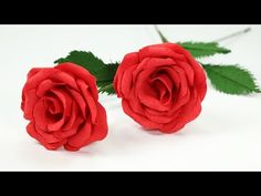 How To Make Ecuador Rose Paper Flower From Crepe Paper - Craft Tutorial - YouTube