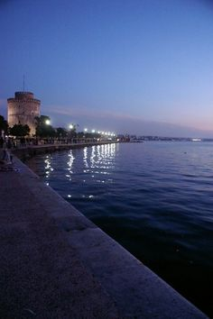 Thesaloniki seafront by night Macedonia, Greece Albania, The Places Youll Go, Places To Visit, Bulgaria, Greece Today, Places In Greece, Costa, Adventure Is Out There, Greek Islands