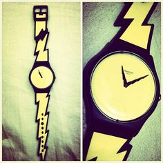 """Nothing says """"bold"""" like a lightning bolt on your arm. What does your watch tell about you? #myswatch"""