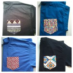 SMALL Custom short sleeve tshirt with pocketNEW by tailoredhope, $7.25