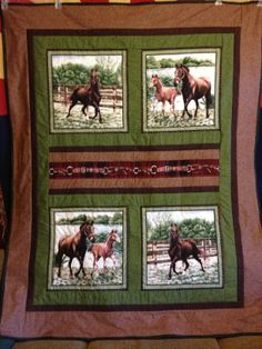 Western Horse Quilt, Sold