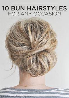 bun hairstyles, hair colors, diy hair, bridesmaid hair, work hair, hair beauty, messy buns, updo, sock buns