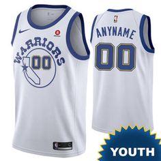 Golden State Warriors Nike Dri-FIT Youth Custom Swingman Hardwood Classic  Jersey - White Hardwood 79f966bb1