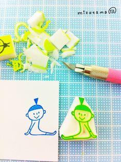 Plastic Eraser DIY Stamps