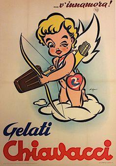 #Gelati #Chiavacci, #Torino #original #vintage #poster  manifesti originali d'epoca www.posterimage.it