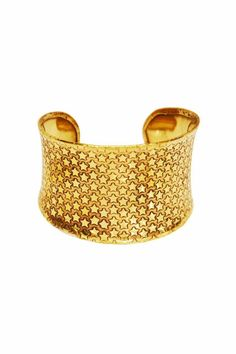 Super star studded embossed cuff in gold tones. Wear with the other cuffs from this collection for advanced style. One size fits most, base is adjustable.   Cadiz Cuff by Made It!. Accessories - Jewelry - Bracelets New Jersey
