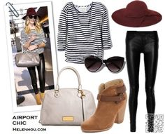 10. #Black and White #Stripes - Leaving on a Jet #Plane? You'll Love These #Comfortably Chic Outfit #Ideas ... → #Fashion #Comfy