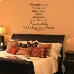 Philippians 4:8 Wall Decal