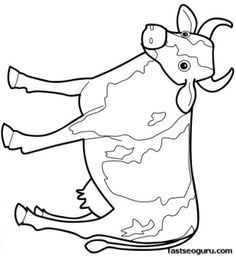 Cow Coloring Page Coloring Pages Farm Animals coloring page for